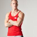 Myprotein 男士纯棉长款健身训练背心 - 红色