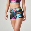 Myprotein 女子印花运动短裤 – 迷幻彩色图案