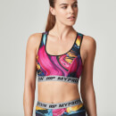 Myprotein 女子印花运动内衣 – 迷幻彩色图案