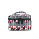 Lulu Guinness Women's Lipstick Print Vanity Case Cosmetic Bag - White/Black