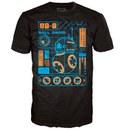Star Wars The Force Awakens BB-8 Blueprint Pop! T-Shirt - Black