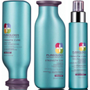 Pureology Strength Cure Shampoo, Conditioner (250 ml) og Fabulous Lengths Treatment (95 ml)