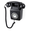 GPO Retro 746 Push Button Wall Telephone - Black