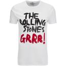 Rolling Stones Men's Logo GRRR! T-Shirt - White