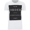 New Order Men's Substance Boxes T-Shirt - White