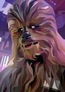 """Póster Fine Art Geométrico Star Wars """"Chewbacca"""" (42 cm x 30 cm)"""