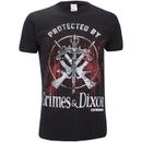 The Walking Dead Men's Grimes & Dixon T-Shirt - Black