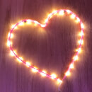 Nylon Heart Light (Battery Operated)