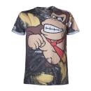Donkey Kong All Over Print T-Shirt - Multi (S)