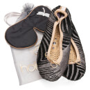Holistic Silk Eye Mask Slipper Gift Set - Black (Various Sizes)