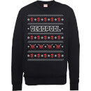 Sweat Homme/Femme Visage Deadpool Noël - Marvel Comics - Noir