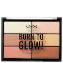 Palette highlighting NYX Professional Makeup Born to Glow