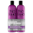 TIGI Bed Head Dumb Blonde Repair Shampoo and Reconstructor for Coloured Hair szampon naprawczy do włosów farbowanych 2 x 750 ml