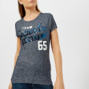 Superdry Women's Team Comets Sequin Entry T-Shirt - Florence Navy Grindle