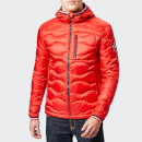 Superdry Men's Wave Quilt Jacket - Bright Red