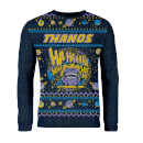 Zavvi Exclusive Thanos Strick-Weihnachtspullover - Navy Blau