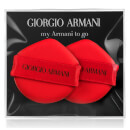 Éponge fond de teint coussin My Armani to Go Giorgio Armani x 2