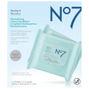 Boots No.7 Radiant Results Revitalising Wipes Value Pack 2.5oz