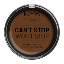 NYX Professional Makeup Can't Stop Won't Stop Powder Foundation Walnut 10.7g