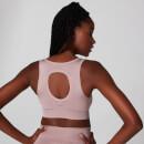MP Women's Metallic Shape Seamless Sports Bra - Fawn - XS