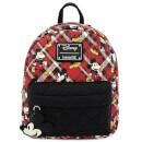 Loungefly Disney Mickey Mouse Twill Mini Backpack With Puffy Nylon Trim