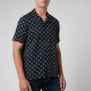 Ted Baker Men's Hedstan Revere Collar Shirt - Navy