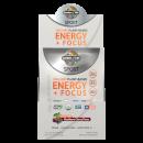 Sport Organic Energie plus Fokus-Pulver - Brombeere-Kirsche - Zuckerfrei - 12 Päckchen