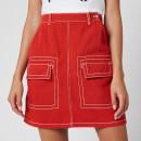 KENZO Women's Straight Short Skirt - Medium Orange