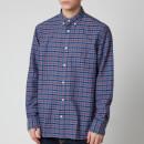Gant Men's Oxford Check Shirt - Mahogany Red