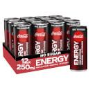Coca-Cola No Sugar Energy 12 x 250ml