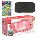 Nintendo Switch Lite (Coral) Yoshi's Crafted World Pack