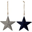 Bloomingville Star Christmas Decorations - Set of 2 - Navy