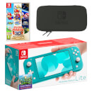 Nintendo Switch Lite (Turquoise) Super Mario 3D All-Stars Pack
