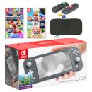 Nintendo Switch Lite (Grey) Mario Mega Pack