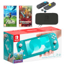 Nintendo Switch Lite (Turquoise) The Legend of Zelda Double Pack