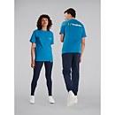 Unisex Heritage Front & Back Logo Tee - Blue