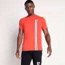 Men's Stripe Logo T-Shirt - Hot Red