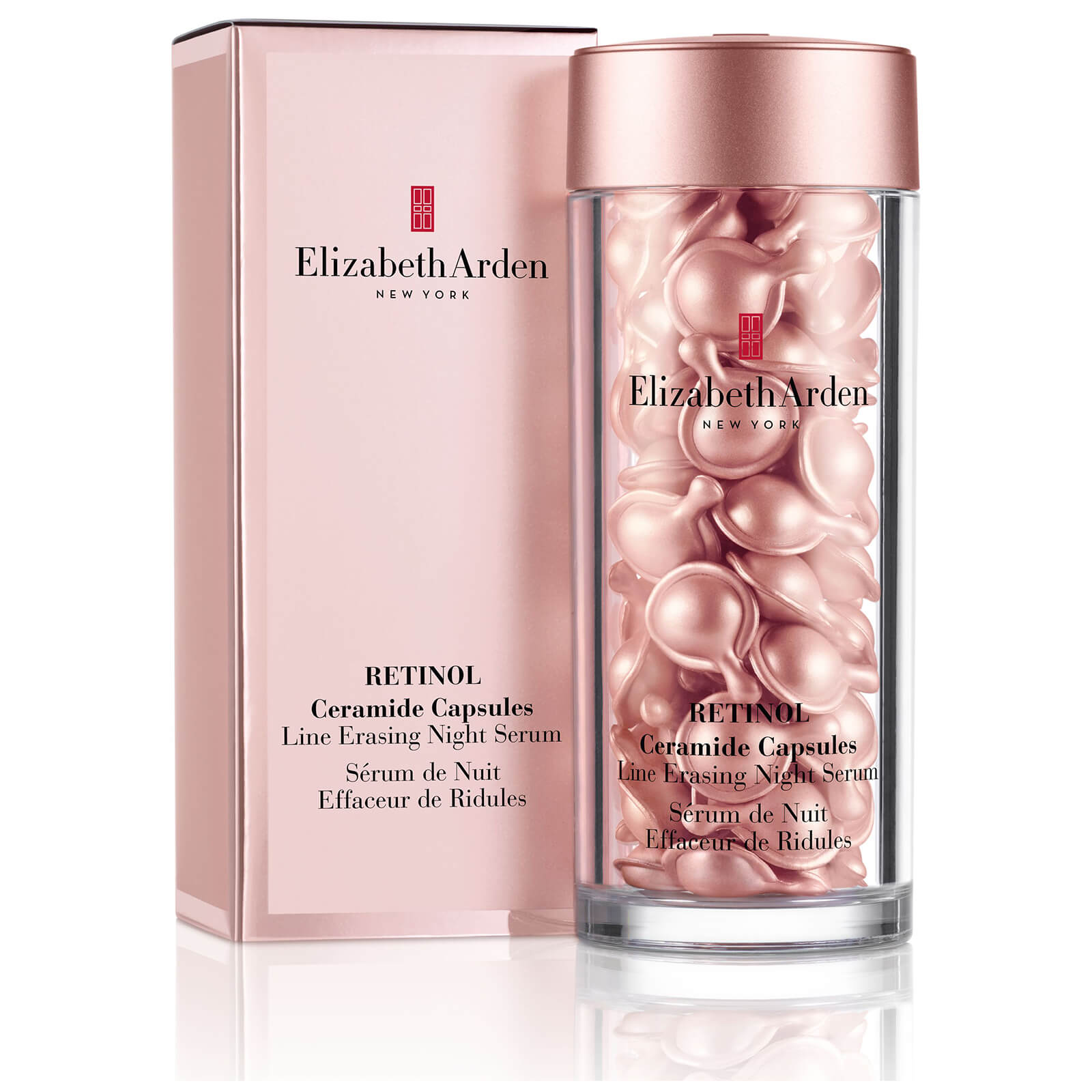Elizabeth Arden Retinol Ceramide Capsules Line Erasing Night Serum 60 Pieces Sleeved Version Worth 96 Free Us Shipping Lookfantastic