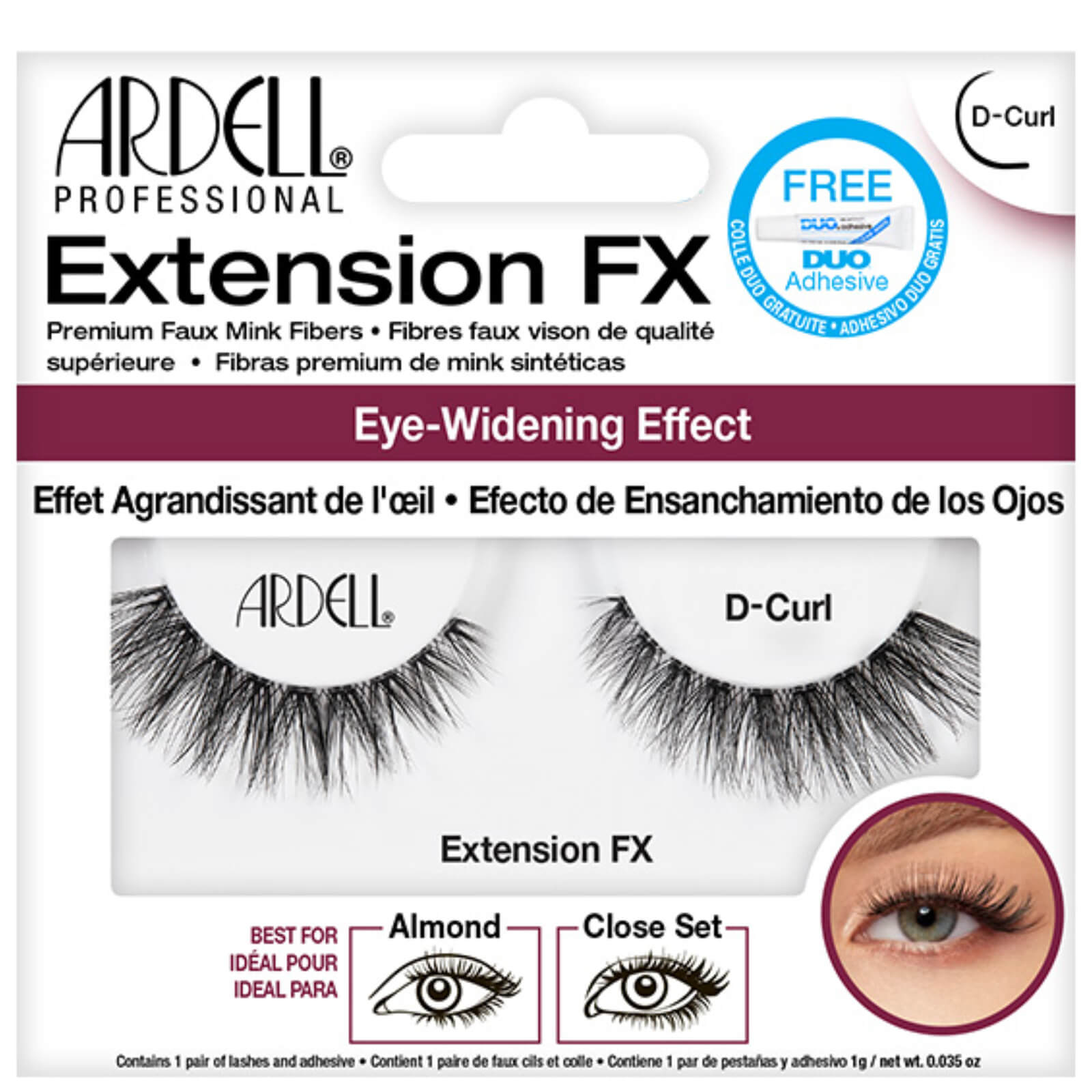 Ardell Extension Fx D Curl Free Us Shipping Lookfantastic