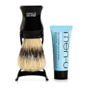 men-u Barbiere Shaving Brush and Stand - Black