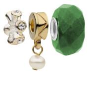 Breloques Perles et Cristal Amadora (lot de 3)