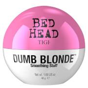Crema alisante antiencrespamiento cabellos rubios Tigi Bed Head Dumb Blonde Smoothing Stuff 48g