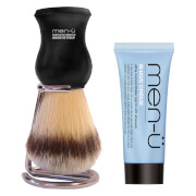 men-ü DB Premier Shave Brush with Chrome Stand - Black