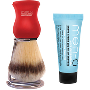 men-ü DB Premier Shave Brush with Chrome Stand - Red