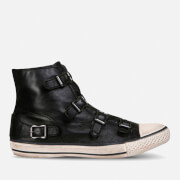 Ash Women's Virgin Leather Hi-Top Trainers - Black