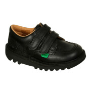 Kickers Kids Kick Lo Velcro Strap Shoes - Black