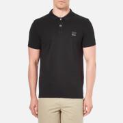 BOSS Orange Men's Pascha Slim Block Branded Polo Shirt - Black