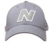 New Balance Unisex Yankey 6 Panel Fitted Baseball Cap - Cotton Spandex Light Grey/White