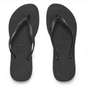 Havaianas Women's Slim Flips Flops - Black