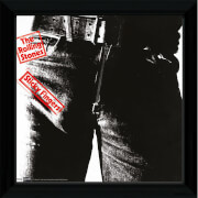 """The Rolling Stones Sticky Fingers - 12"""""""" x 12"""""""" Framed Album Prints"""